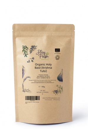 100g Organic Holy Basil (Krishna Tulsi) Tea Leaves